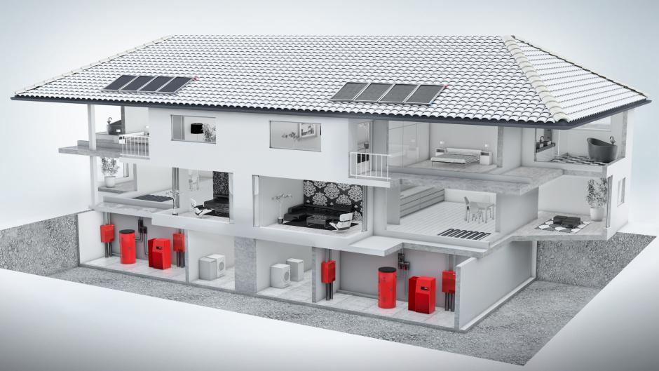 Riscaldamento casa bifamiliare sistemi di riscaldamento innovativo hoval - Sistemi di riscaldamento casa ...