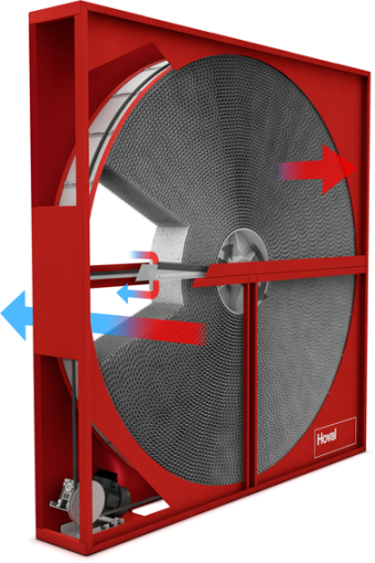 Scambiatori di calore rotativi hoval hoval - Scambiatori di calore aria aria casa ...